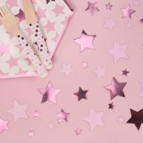 Little Stars Pink Table Confetti